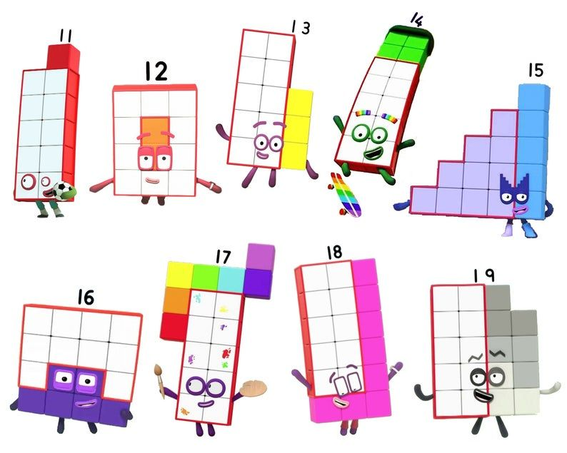 Numberblock Stickers Half Sheets 0 10 11 19 20 100 Etsy In 2020 Art Drawings For Kids Etsy Kids Shows