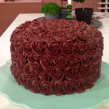 Chokladtårta med lakritsfyllning