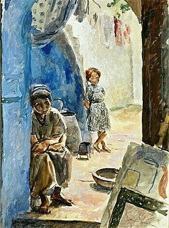 Algerie Peintre Francais Henri Clamens 1905 1937 Aquarelle