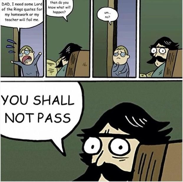 lord of the rings quote you shall not pass meme (13 ...