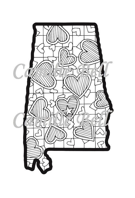 Pin By Susie Mcewen On States Cute Coloring Pages
