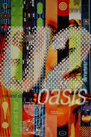 U2 Poster - Rock posters, concert posters, and vintage posters from the Fillmore, Fillmore East, Winterland, Grande Ballroom, Armadillo World Headquarters, The Ark, The Bank, Kaleidoscope Club, Shrine Auditorium and Avalon Ballroom.