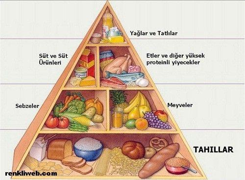 Beslenme Piramidi Yeni Beslenme Saglikli Yiyecekler Ve Okul