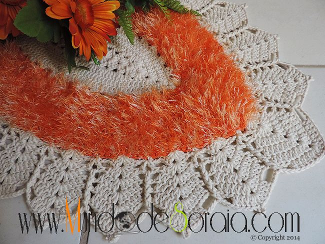tapete oval barroco decore tapetes pinterest crochet decoration and crochet. Black Bedroom Furniture Sets. Home Design Ideas