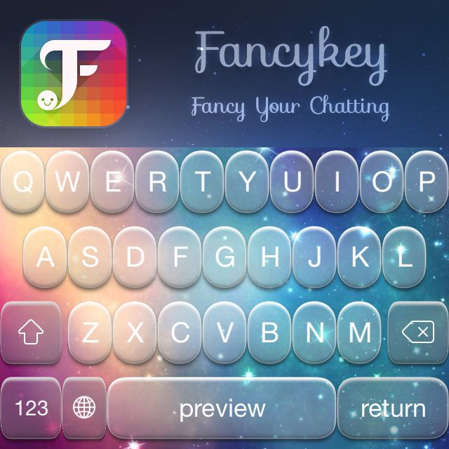Want your keyboard to look like this? Go and download @Fancykey http
