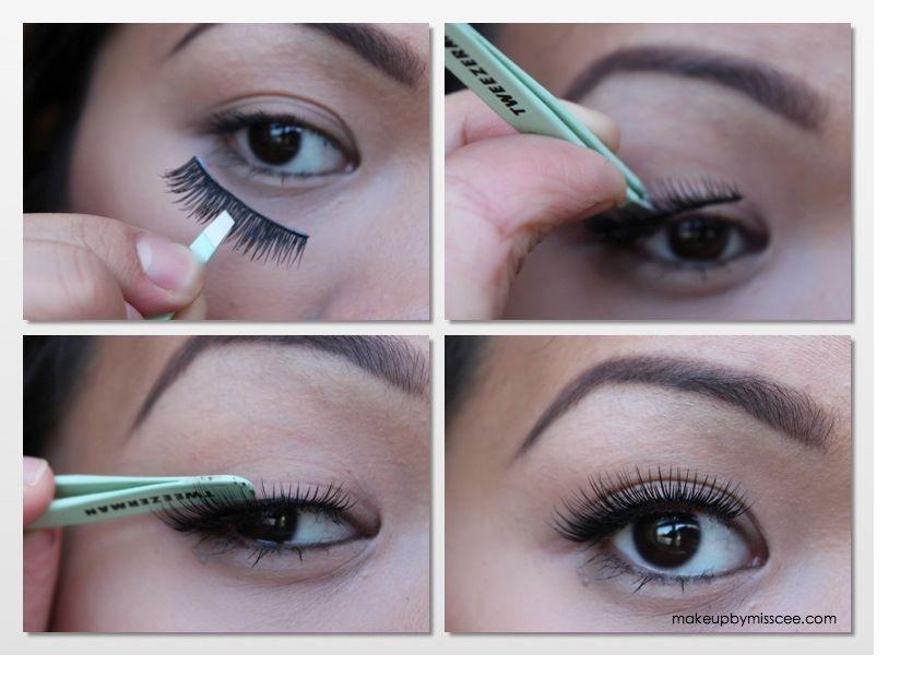 How To Apply False Eyelashes How To Apply Fake Lashes Apply