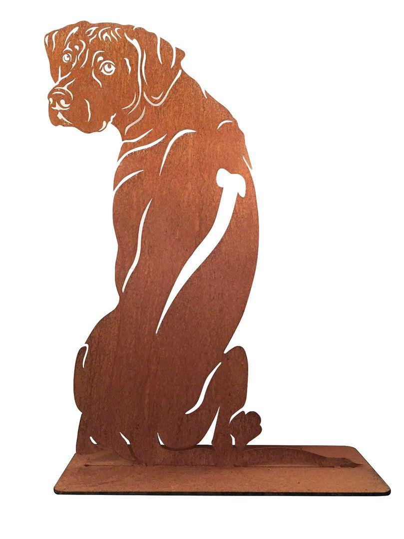 Rostfigur Edelstahlfigur Ridgeback Edelrost Gartenfigur Hund Rostfiguren Hunde Silhouette Gartenfiguren Hund Skulptur