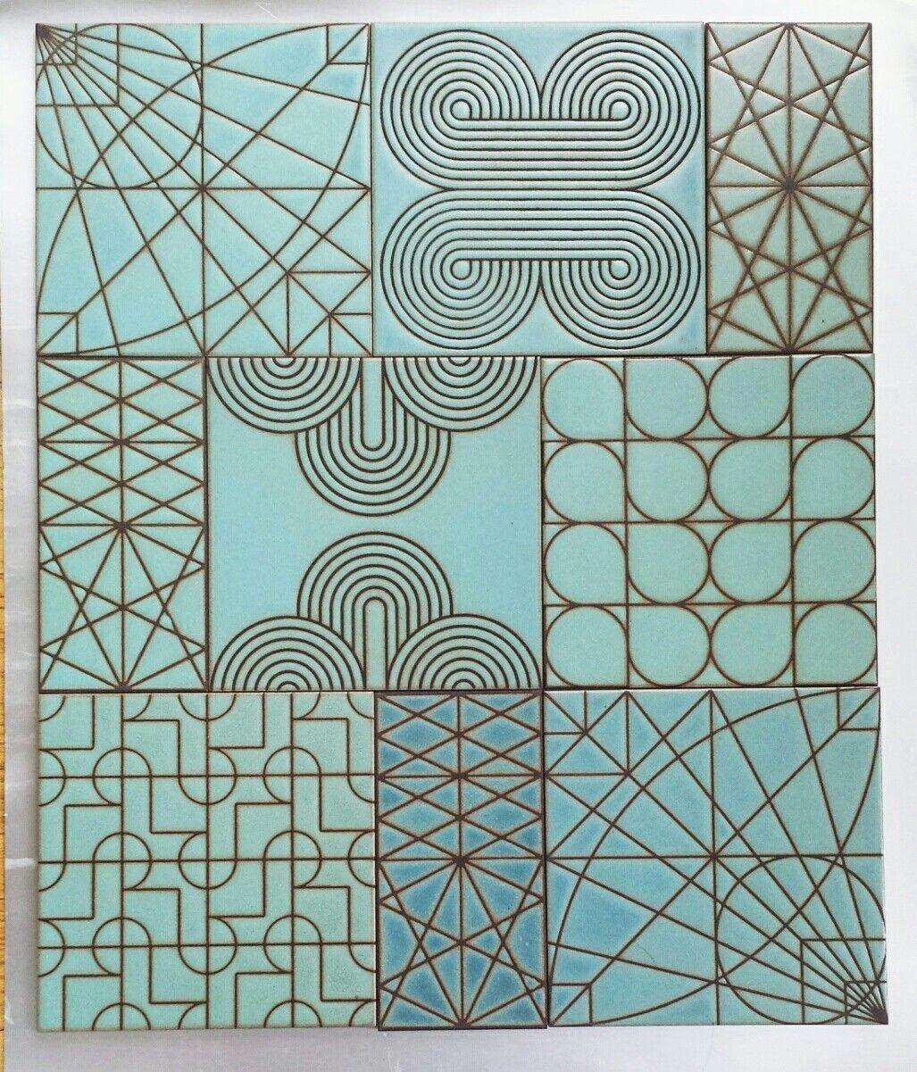 Patchwork mix of KISMET TILE patterns, all in AZURE glaze #tile ...