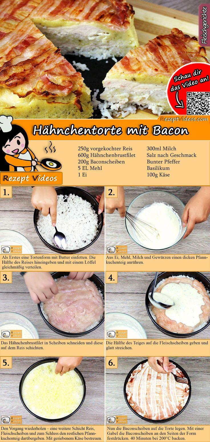 Hühnertorte mit Speck   - Sós finomságok -