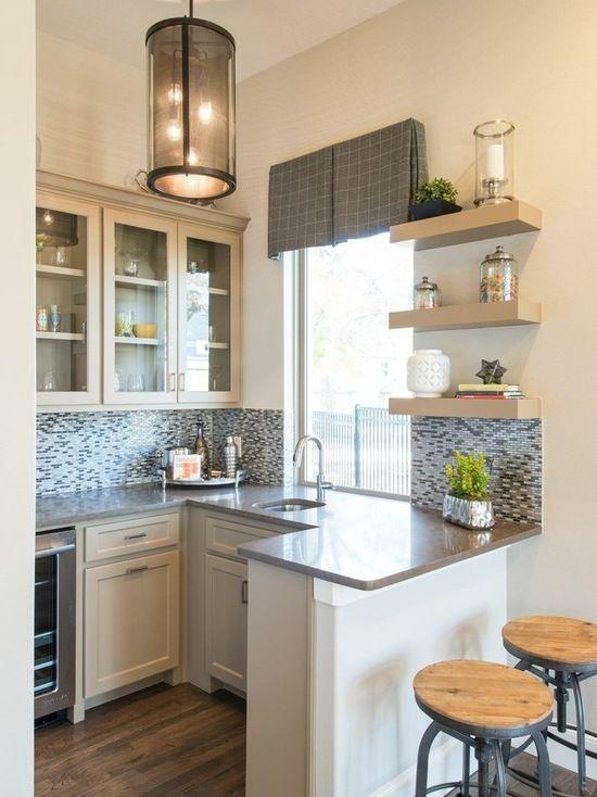 Best 17 Functional Small Kitchen Peninsula Design Ideas 400 x 300