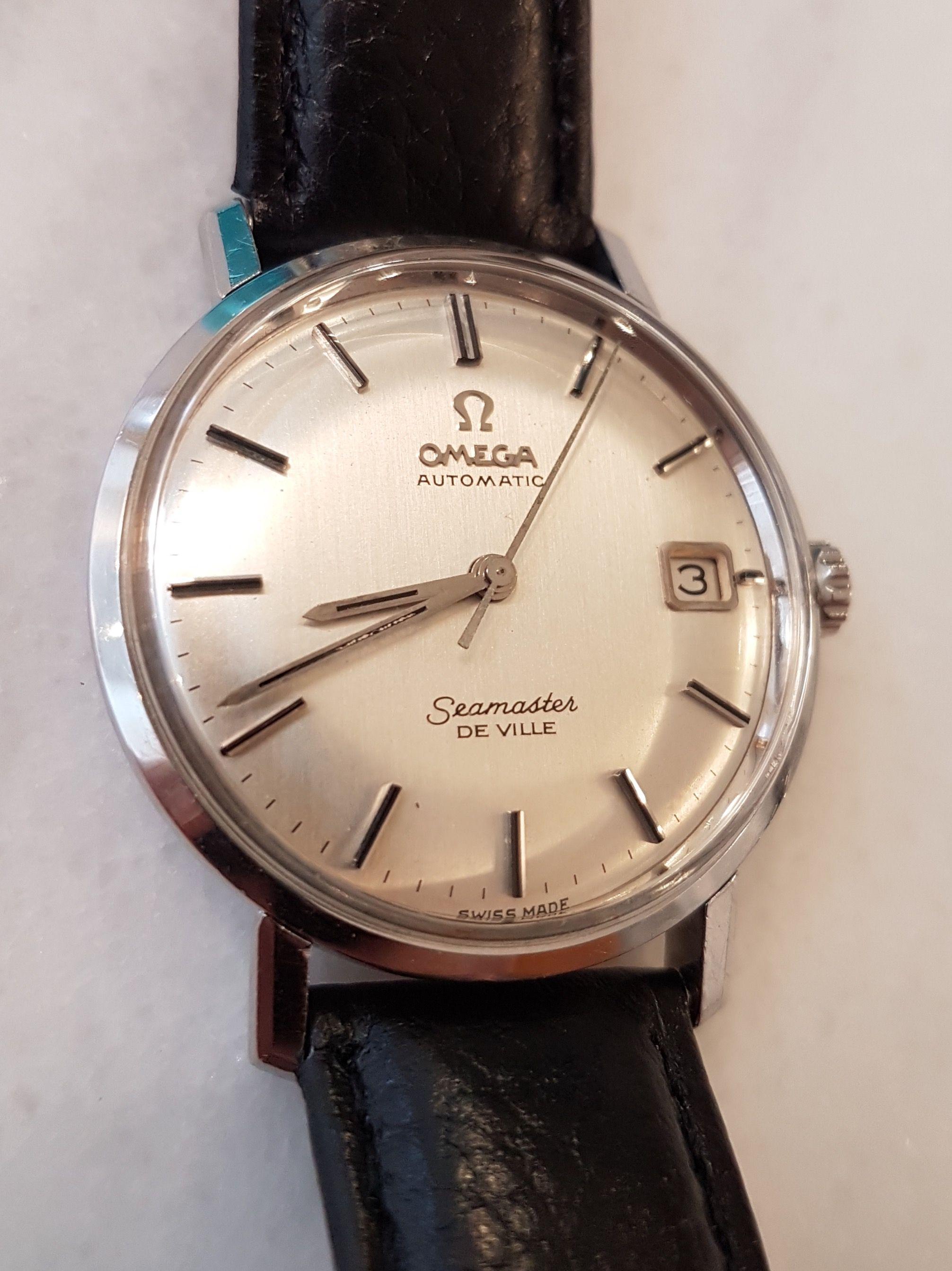 b8b46eae38e 1960s Omega Seamaster Deville. Gorgeous!