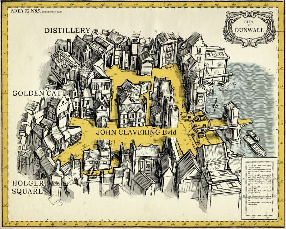 Dunwall City Map The Art Of Dishonored Pinterest Maps Video