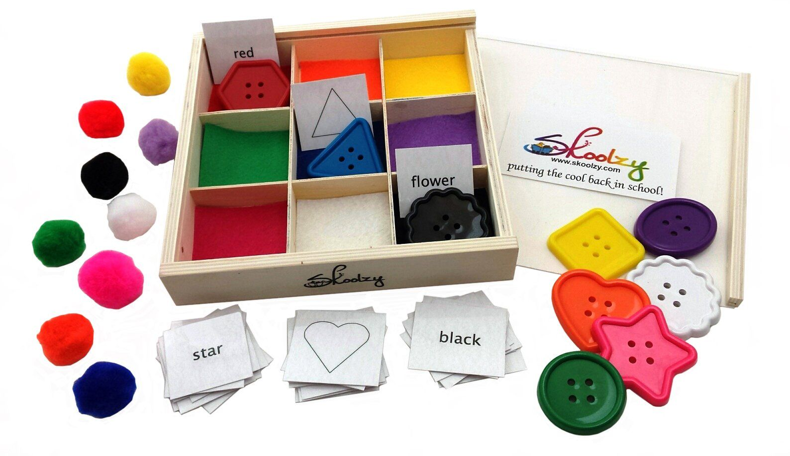 Best Learning Colors and Shapes Wooden Sorting Box - Fine ...