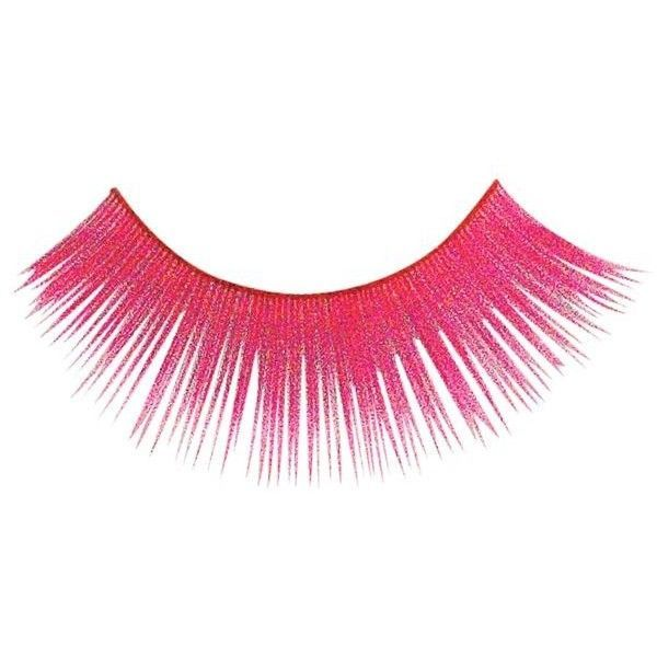 Neon Pink False Eyelashes 499 Liked On Polyvore Featuring