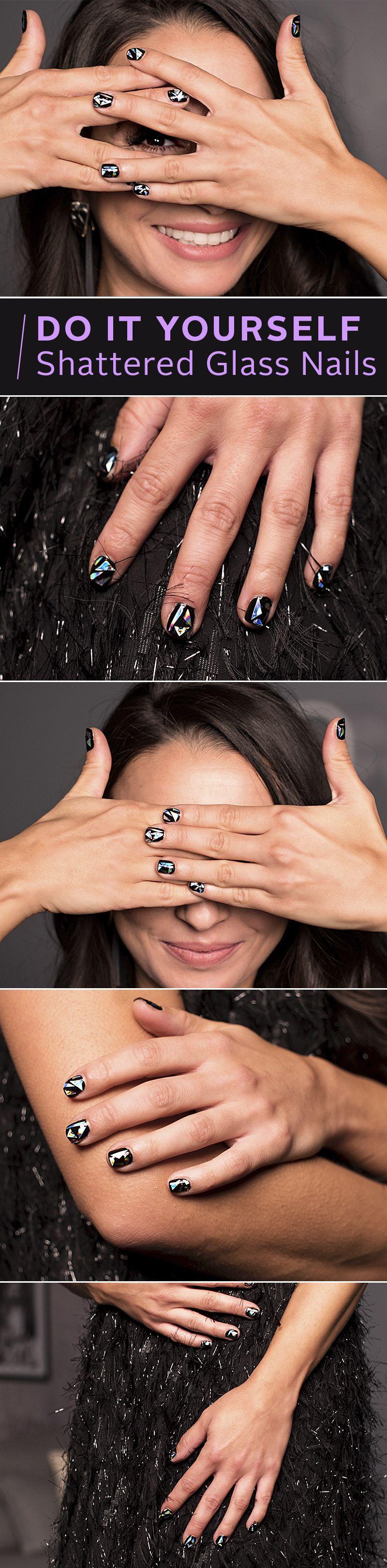 Shattered-Glass-Nails! Der glitzernde Nageltrend ist perfekt für ...