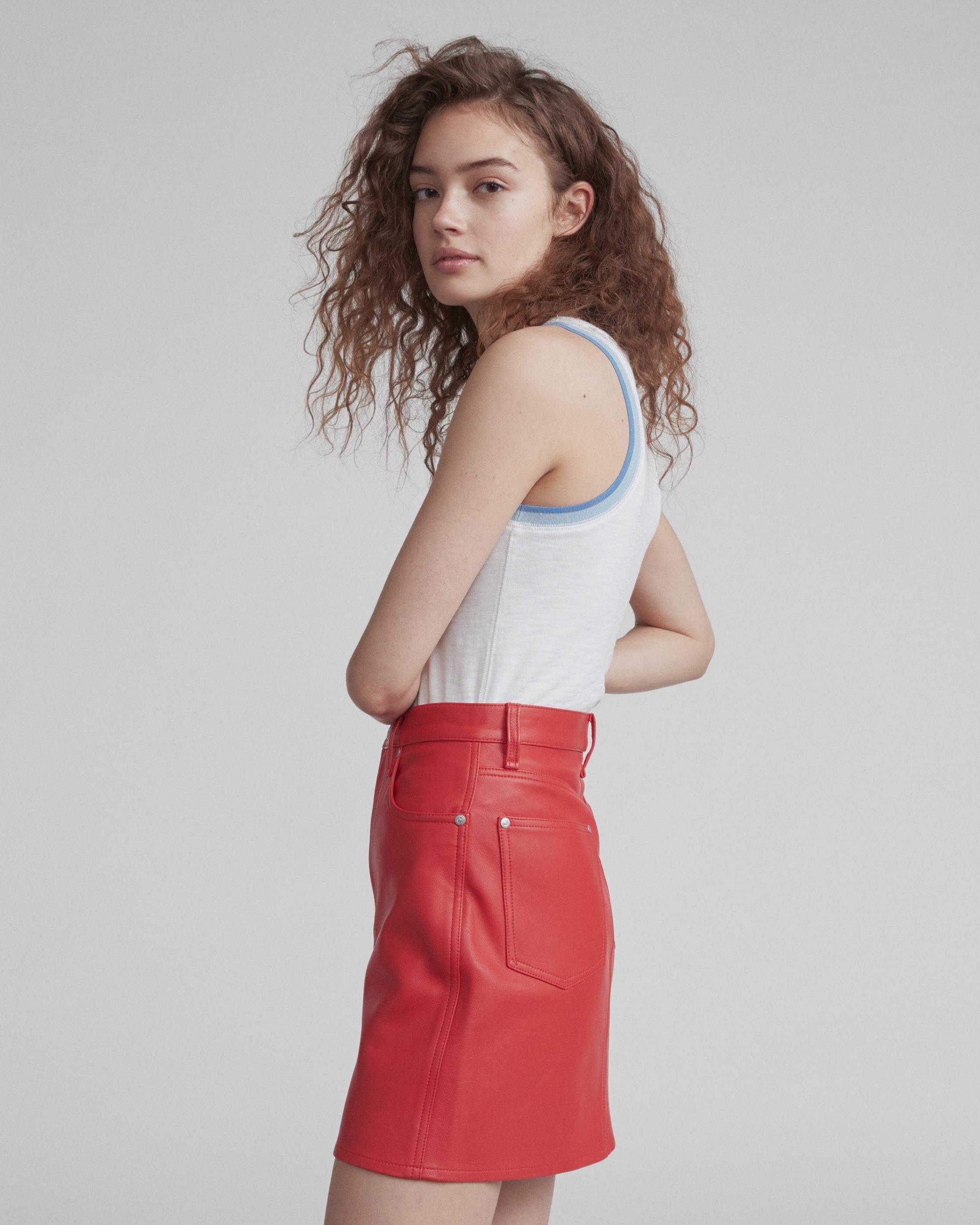 b526cd90f Moss Leather Skirt | Women Dresses & Skirts | rag & bone | Elena's ...