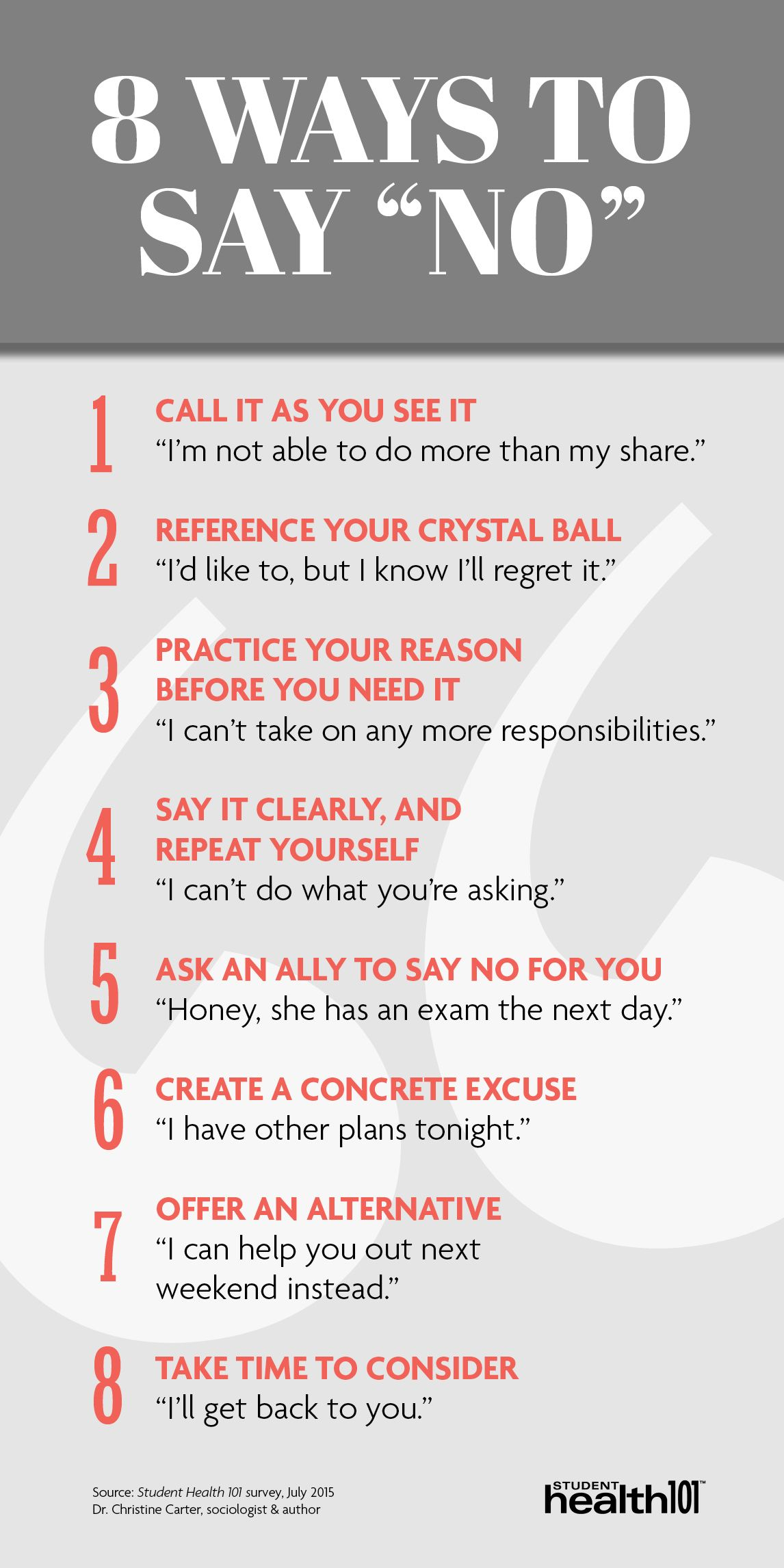 8 Ways To Say No 1 Call It As You See It 2 Reference