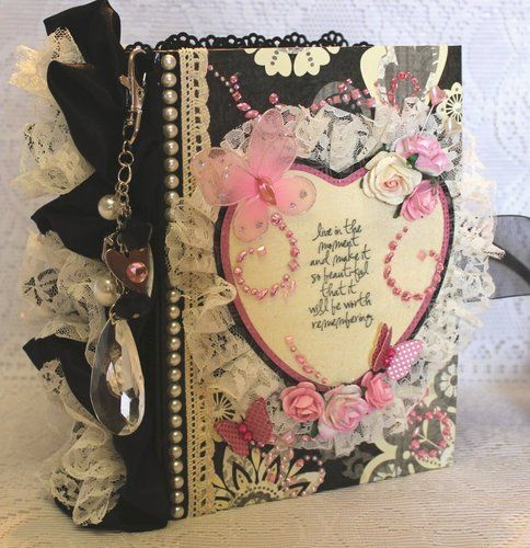 Live In The Moment Shabby Vintage Premade Scrapbook Album By Cindy