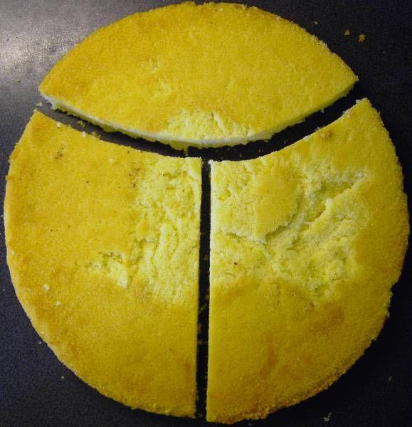 Eine Torte Zum 6 Geburtstag Die Torte Besteht Aus Zwei Sandkuchen