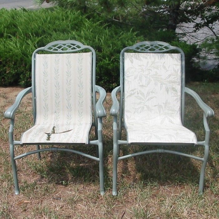 Patio Chair Replacement Material: Outdoor Sling Furniture
