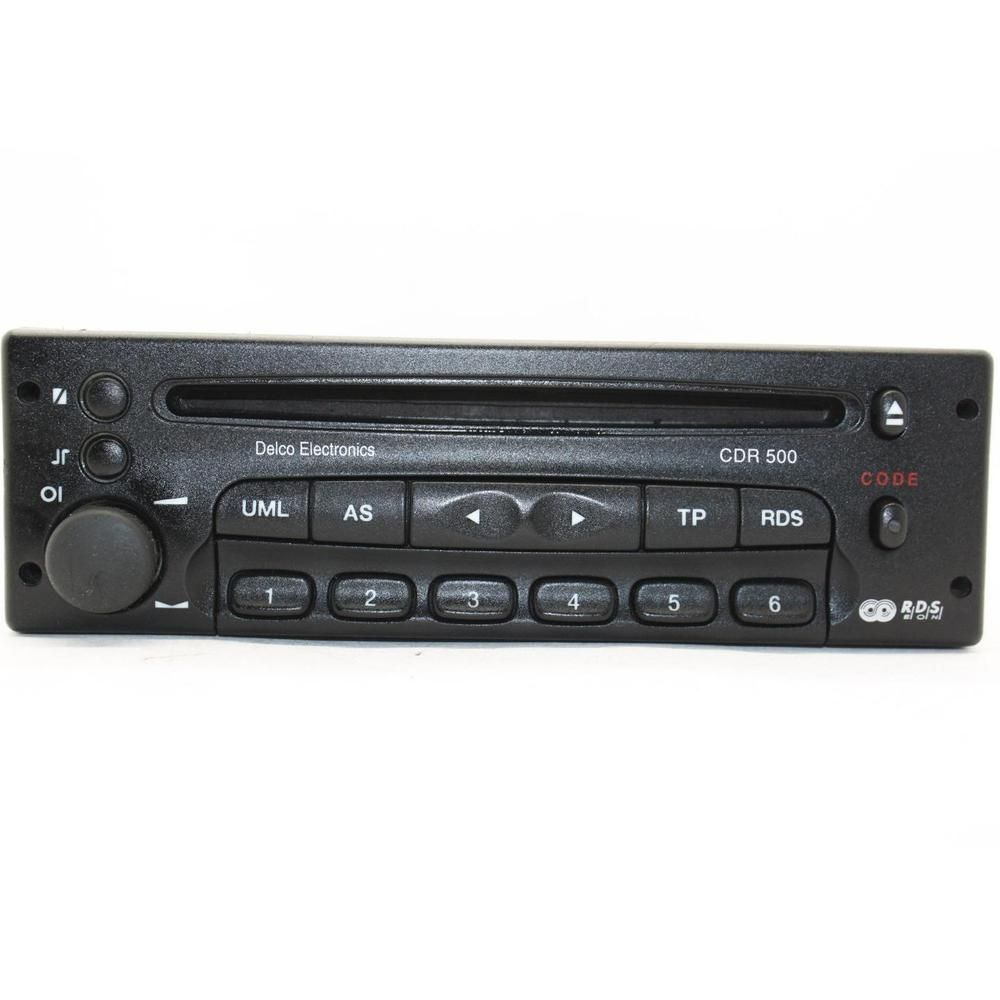 Vauxhall CDR500 Delco car stereo head unit CD player vectra corsa astra CDR  500 #delco