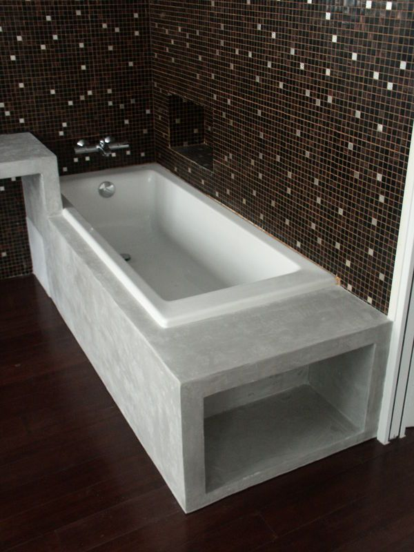 habillage de baignoire b ton cir microtopping pinterest hall and house. Black Bedroom Furniture Sets. Home Design Ideas