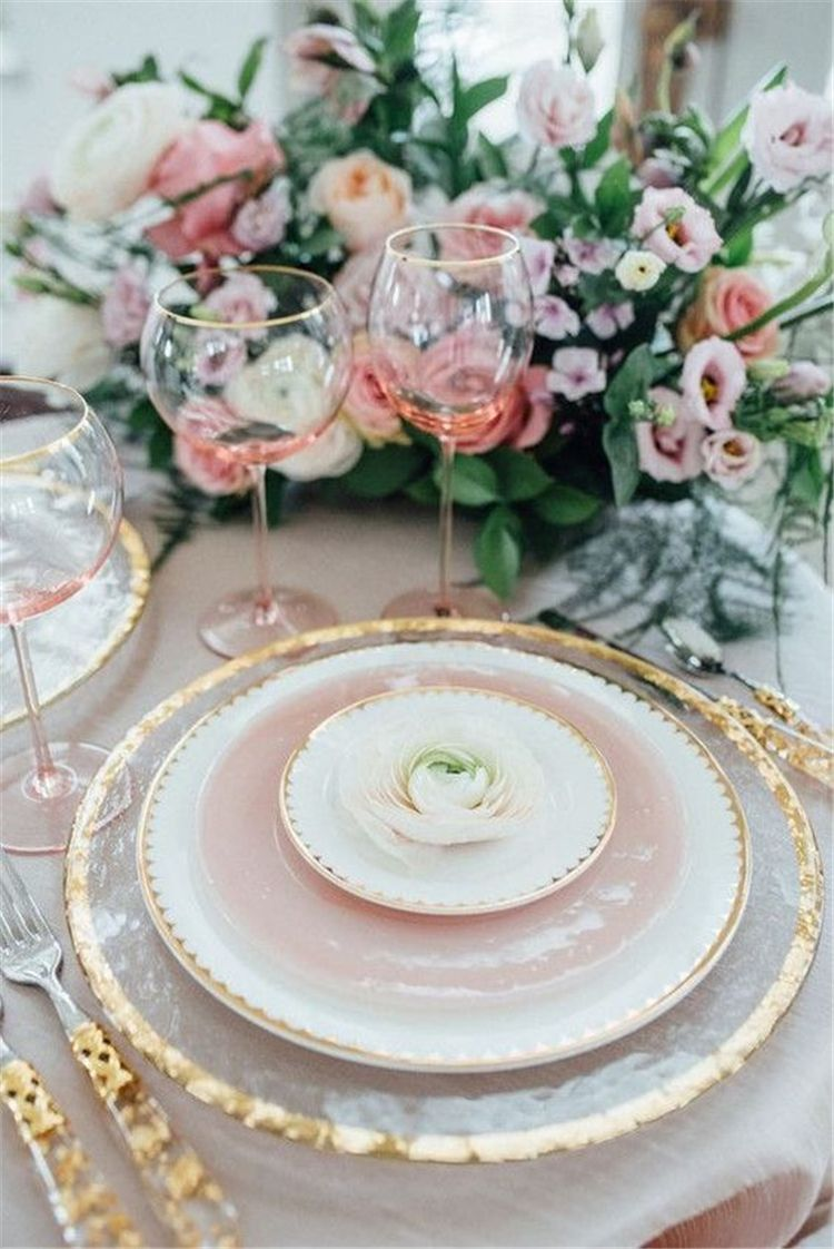 35 Pink Table Seating Sets Ideas Trendy In 2020 Creative Home Decor In 2020 Beautiful Table Settings Gold Place Setting Wedding Pink Table