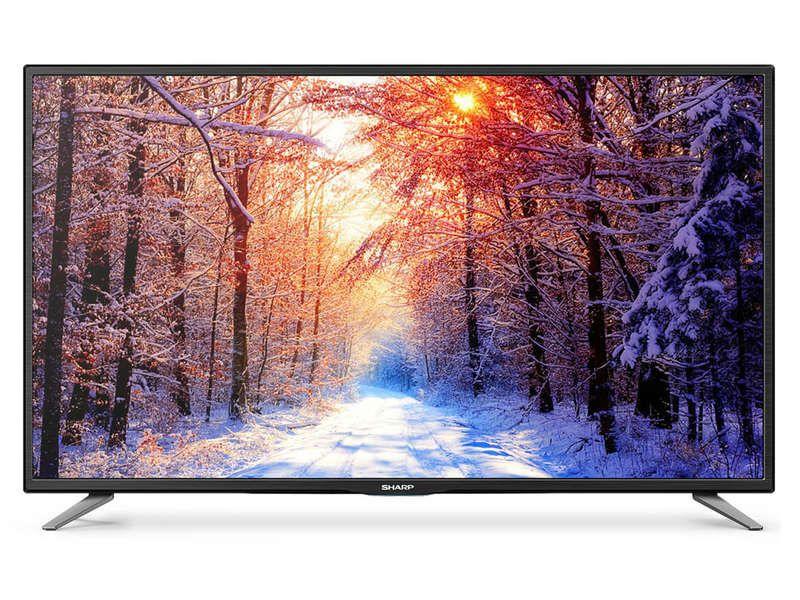 t l viseur led 109 cm sharp lc 43cfe6141ew prix promo t l viseur conforama tv pas. Black Bedroom Furniture Sets. Home Design Ideas