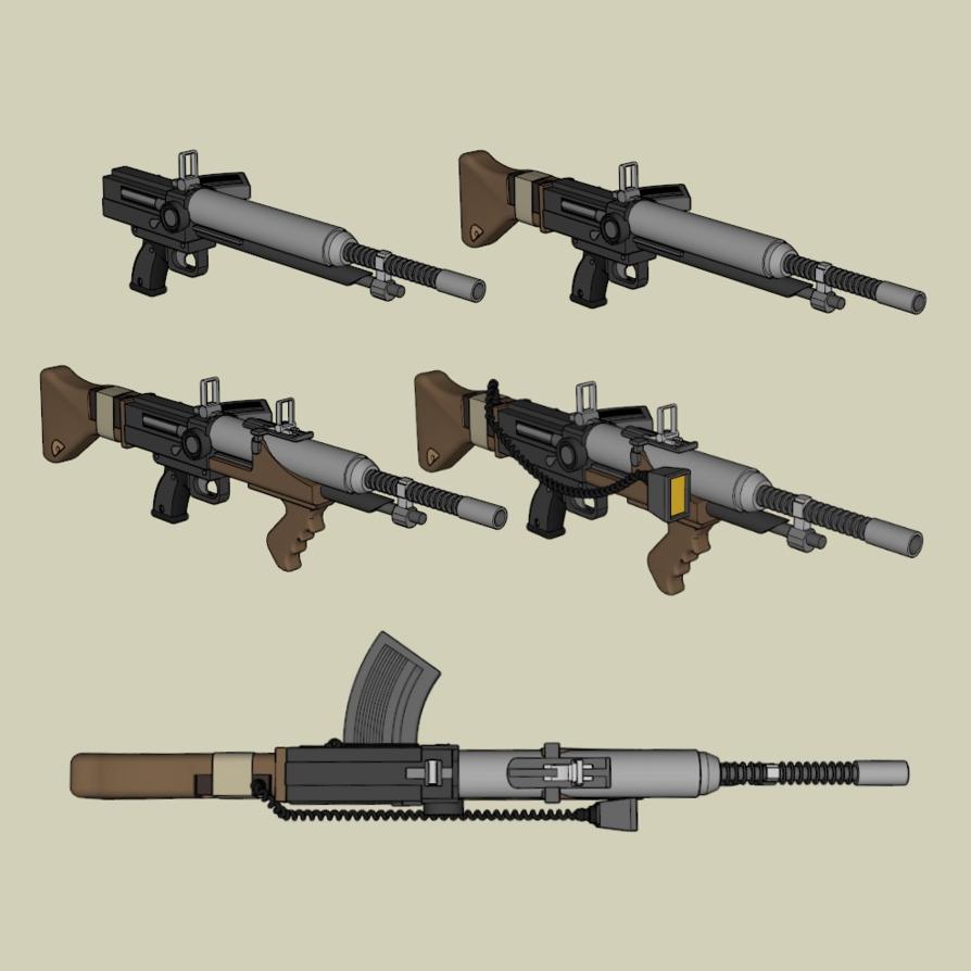 Dieselpunk Weapon