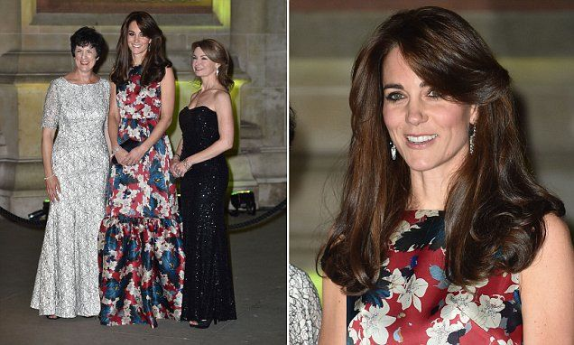 Duchess of Cambridge Kate Middleton wears Erdem dress to 100 Women in Hedge Funds dinner | Daily Mail Online