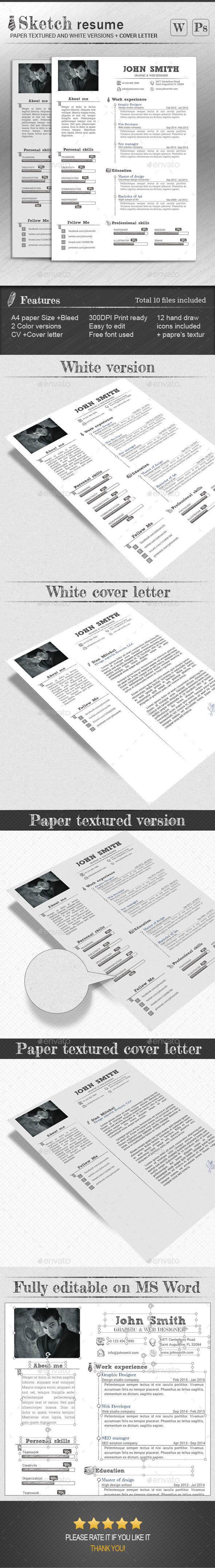 Resume Template PSD design resume template Download