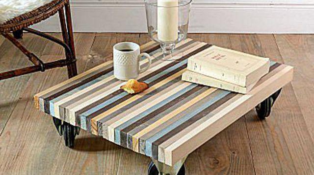 diy deco pas cher construire une table basse avec des planches en bois products i love. Black Bedroom Furniture Sets. Home Design Ideas