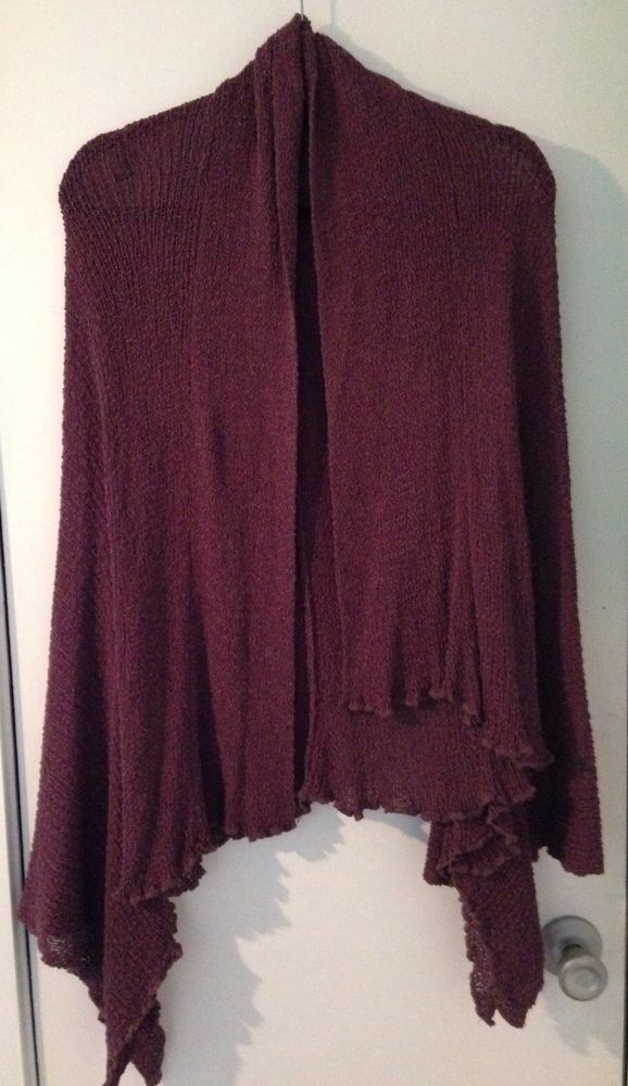 CAMI Ladies Sm Solid Purple Knitted Sweatercoat #Cami #Sweatercoat ENDING SOON! $6