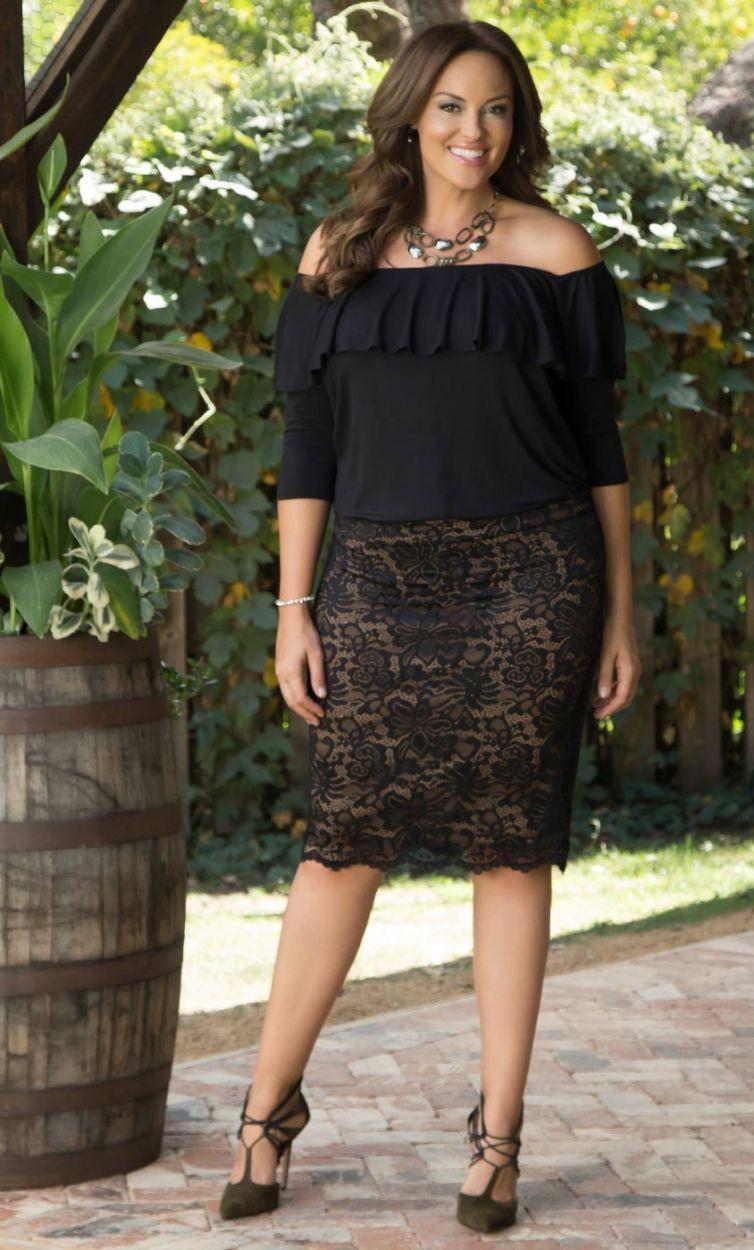 4e1f73fd750 Curvalicious Clothes Plus Size Lace Dress