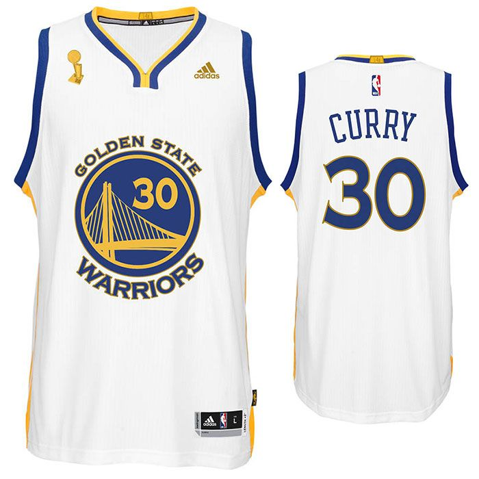 5beca1d96ab ... Champions Stitched NBA Jersey GOLDEN STATE WARRIORS ADIDAS STEPHEN CURRY  TROPHY RING BANNER SWINGMAN JERSEY - WHITE ...