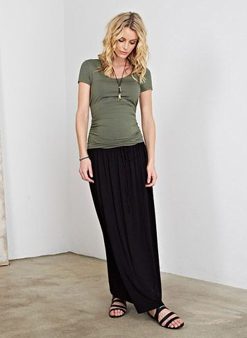9aa45df69 The Relaxed Maternity Maxi Skirt | Maternity Skirts | Isabella Oliver  Maternity