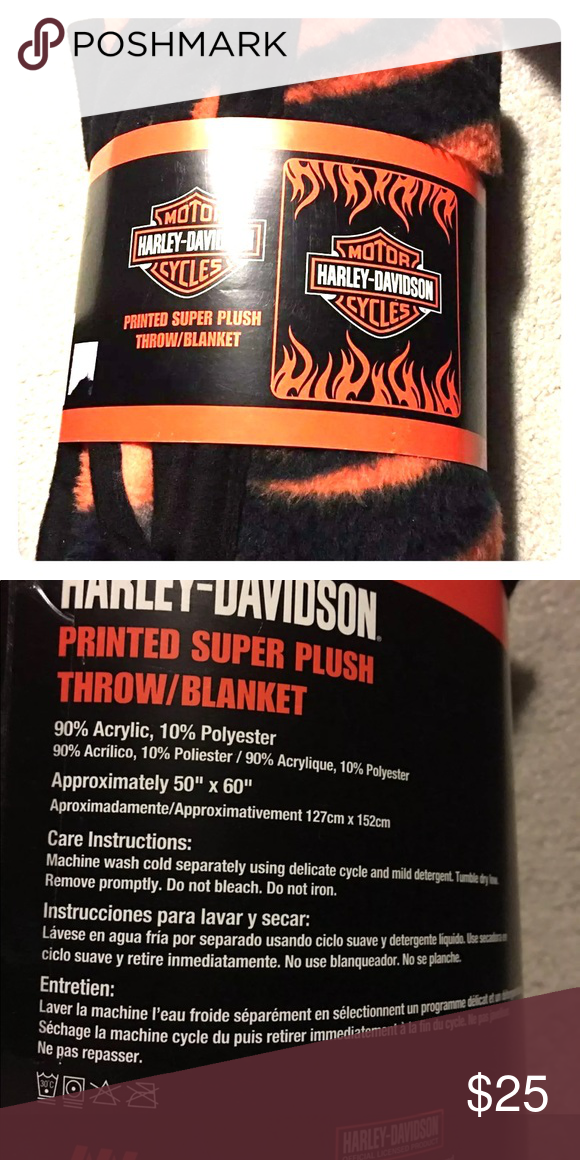 Sold New Harley Davidson Throw NWT My Posh Closet Pinterest Awesome Harley Davidson Blankets And Throws