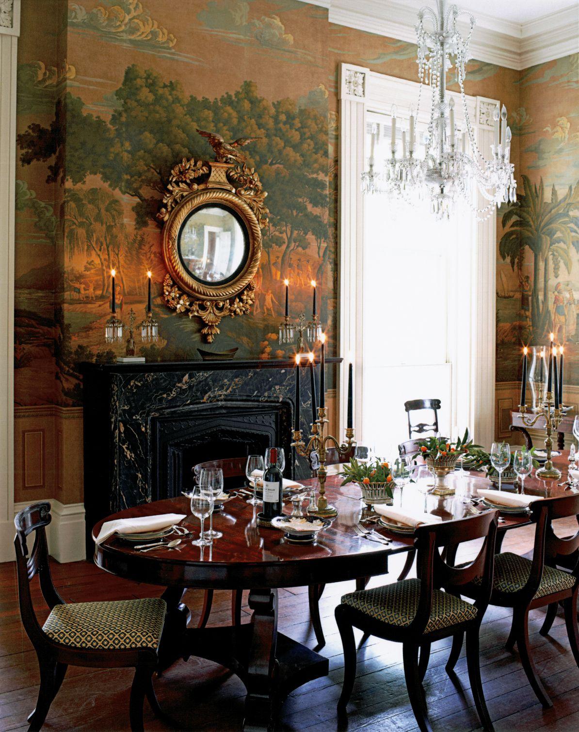 Greek Revival House Charleston Sc Gil Schafer Dining Room