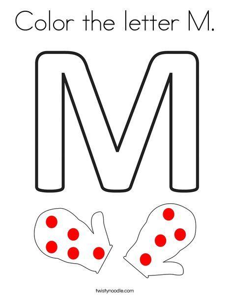 Color the letter M Coloring Page - Twisty Noodle | Harfler ...