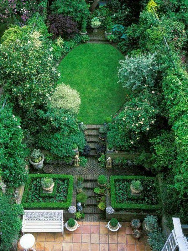 Garten Ideen Kakteen Gartengestaltung Buchsbaumhecke Gras Rasen