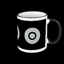 White rose kaleidoscope mugs by Roses_Roses