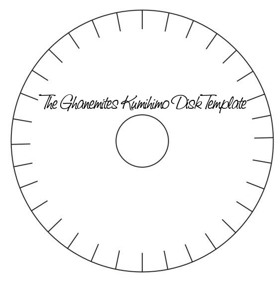 Jennifer Al-Ghanem : My 32 Slot Kumihimo Disk Template