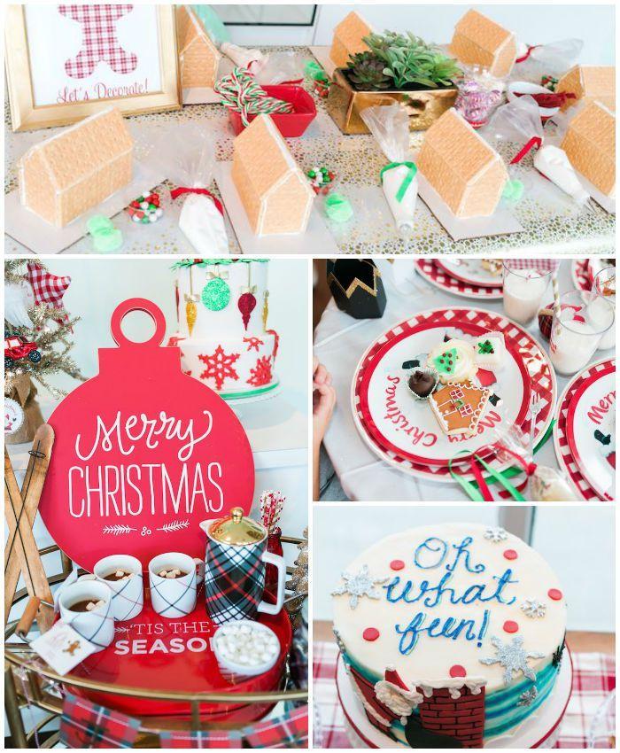 Gingerbread House Decorating Party Via Karas Party Ideas