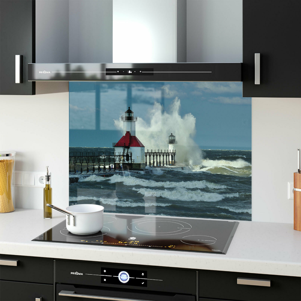 Joseph 87072728n ANY SIZE Kitchen Splashback Toughened Glass FHD Lighthouse St