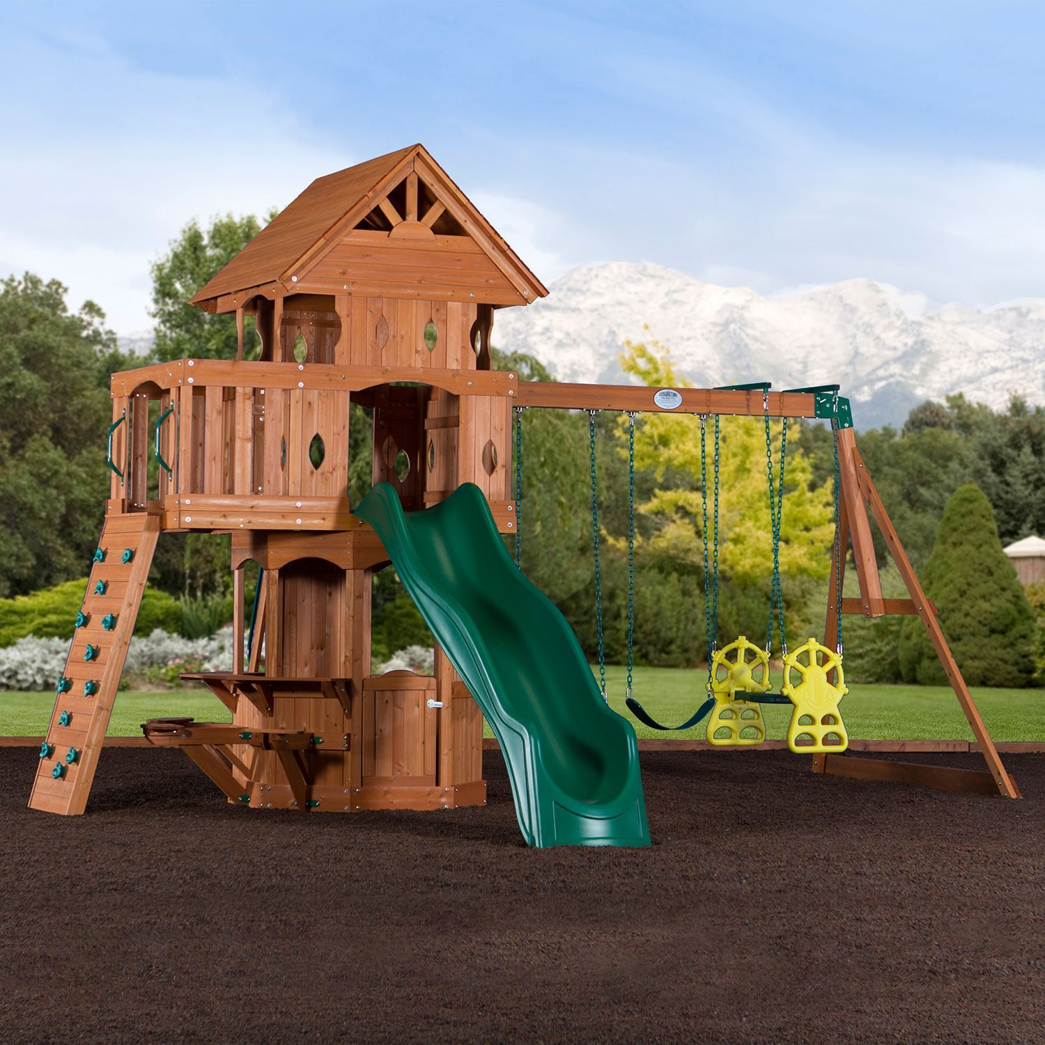 Woodland Cedar Swingset Sam s Club