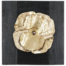 Gold Metal Floral Wall Decor