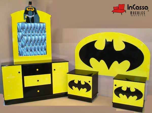 Recámara Infantil Mod. BATMAN. --Incluye: 1 cabecera, 2 buroes ...