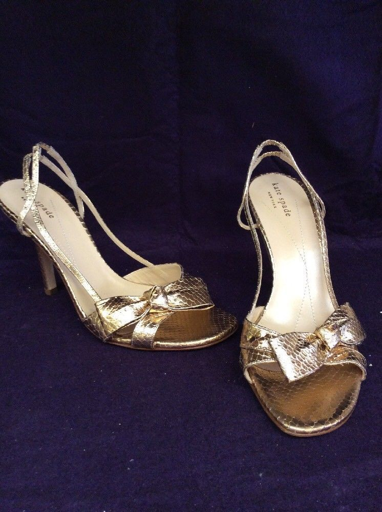 9991db65305e Kate Spade Old Gold Leather Sandals Size 8. Originally  275.00  fashion   clothing