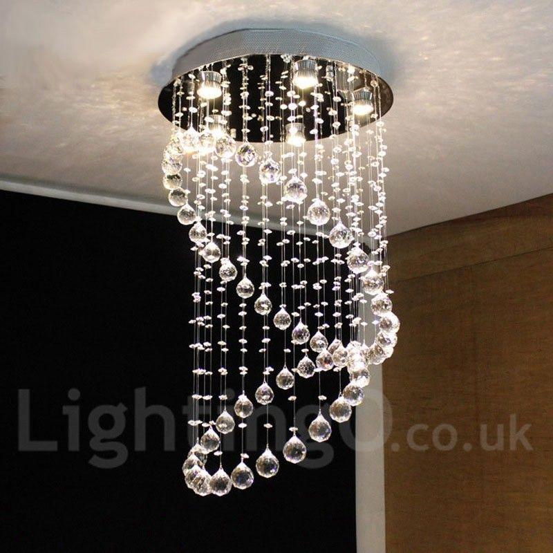 5 Lights Modern Led Crystal Ceiling Pendant Light Indoor Chandeliers Home Hanging Down Lighting Lamps Fixtures Lightingo Co Uk Chandelier In Living Room Ceiling Pendant Ceiling Pendant Lights