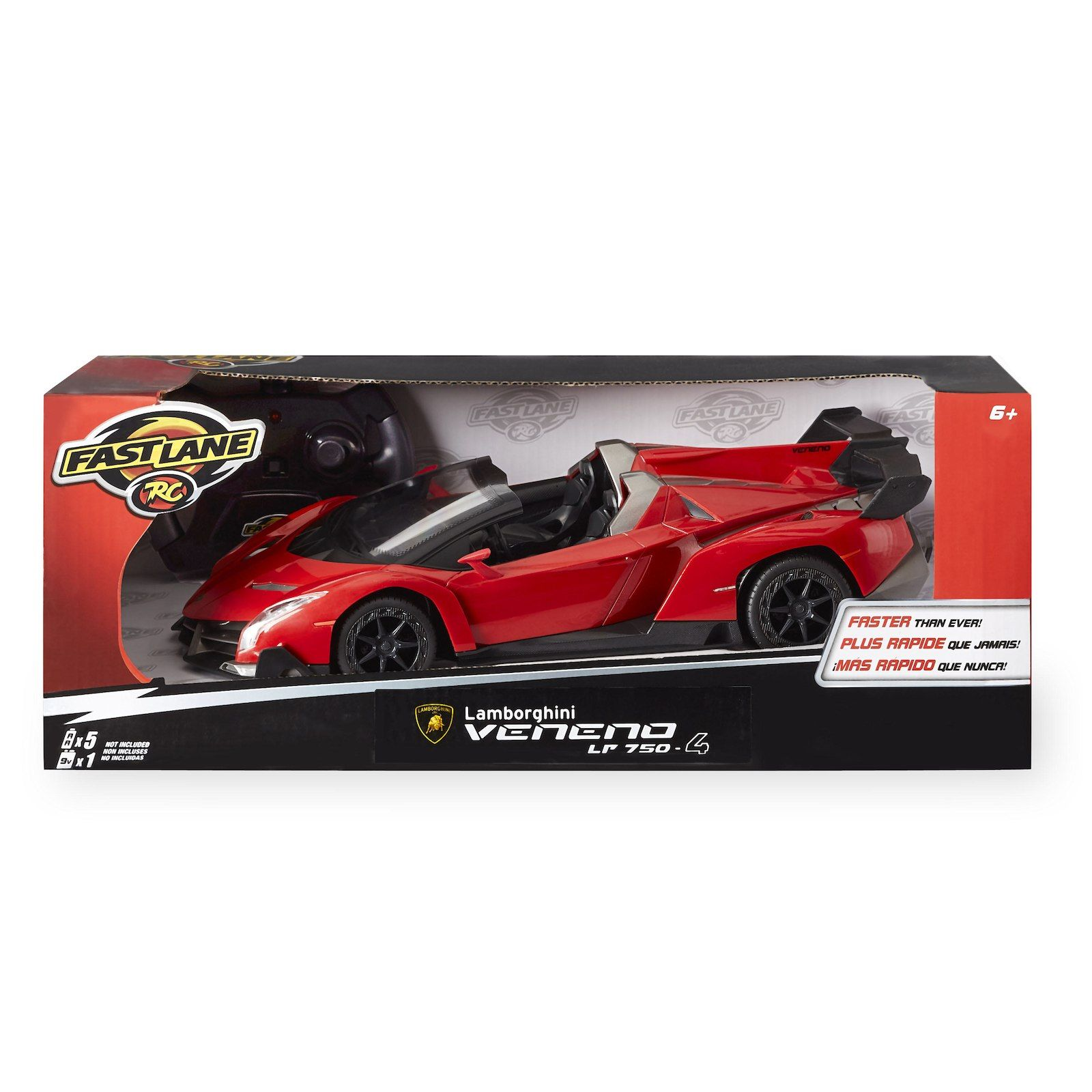 Fast Lane 1 16 Scale Remote Control Car Lamborghini Veneno Lp 750 4 Red Remote Control Cars Lamborghini Veneno Toys